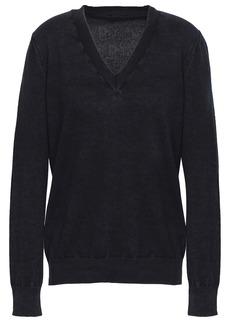 Maison Margiela Woman Mélange Cashmere Sweater Black