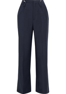 Maison Margiela Woman Mohair And Wool-blend Straight-leg Pants Midnight Blue