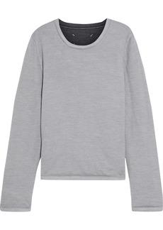 Maison Margiela Woman Padded Mélange Wool Sweatshirt Gray