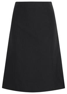 Maison Margiela Woman Paneled Wool And Printed Sateen Skirt Black