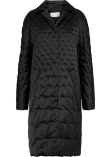 Maison Margiela Woman Quilted Shell Coat Black