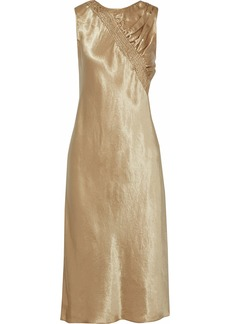 Maison Margiela Woman Shirred Satin Dress Gold