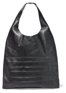 Maison Margiela Woman Textured-leather Tote Black