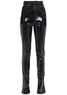 Maison Margiela Woman Vinyl Slim-leg Pants Black