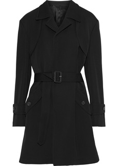 Maison Margiela Woman Wool And Cotton-blend Gabardine Trench Coat Black