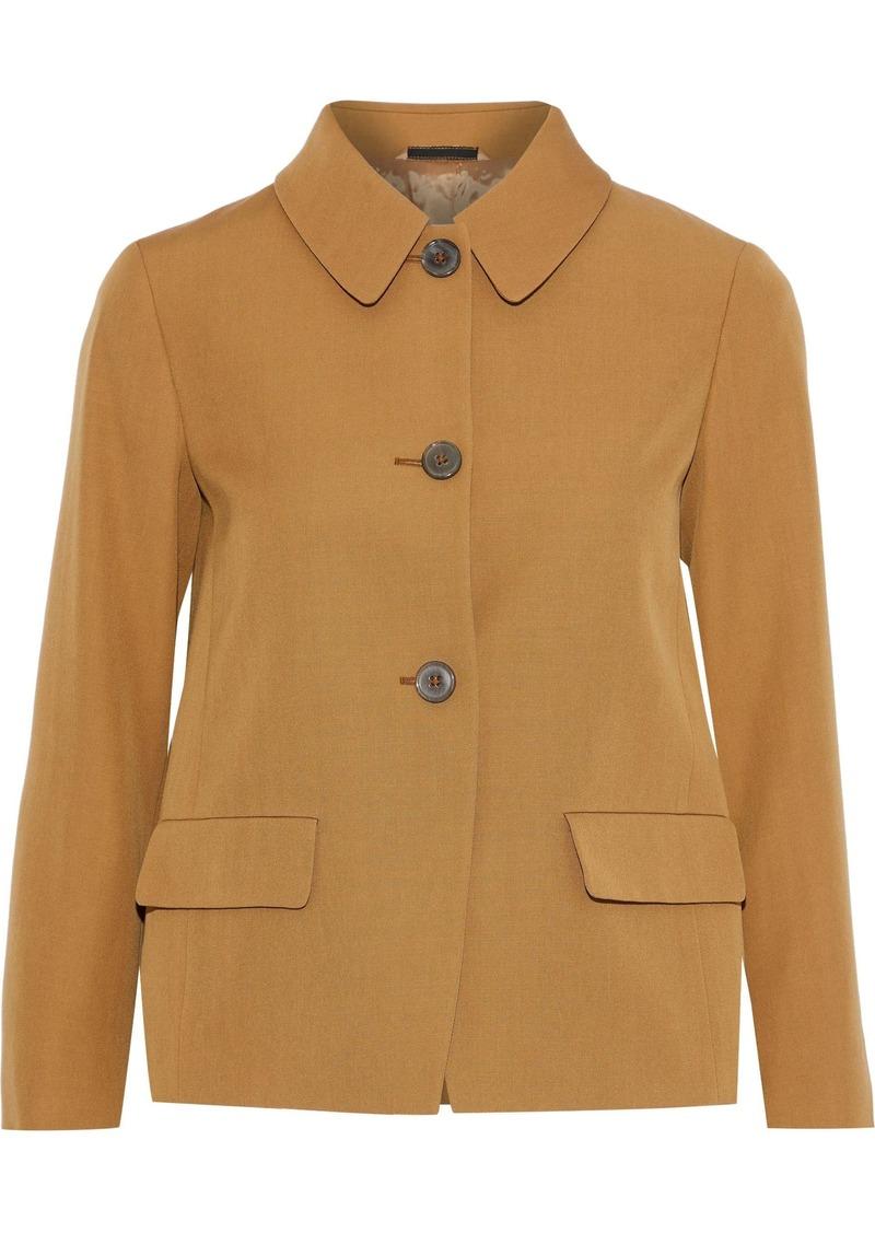 Maison Margiela Woman Wool-gabardine Jacket Mustard