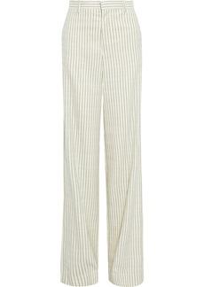 Maison Margiela Woman Wool-jacquard Wide-leg Pants Ivory
