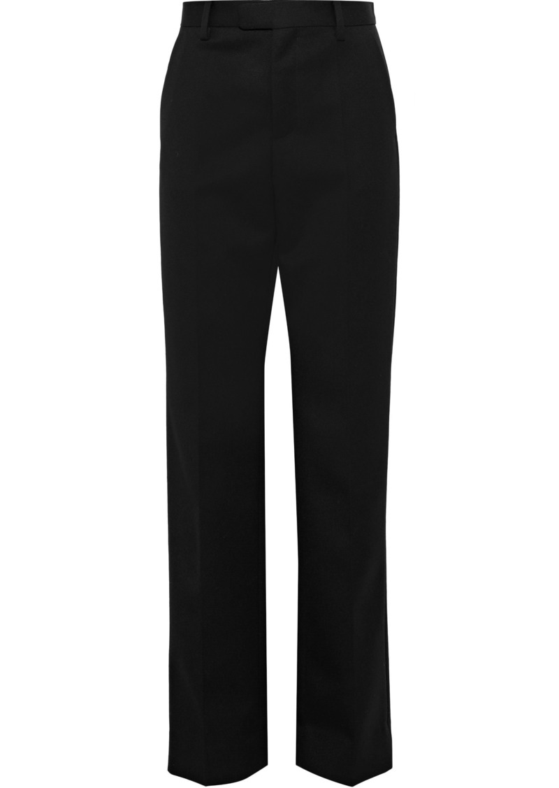 Maison Margiela Woman Wool-twill Straight-leg Pants Black