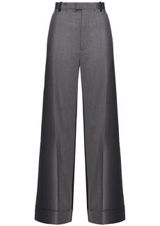 Maison Margiela Woman Wool-twill Wide-leg Pants Gray