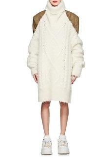 Maison Margiela Women's Backless Cable-Knit Alpaca-Blend Sweater