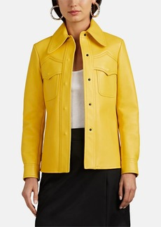 Maison Margiela Women's Bonded Leather Shirt Jacket