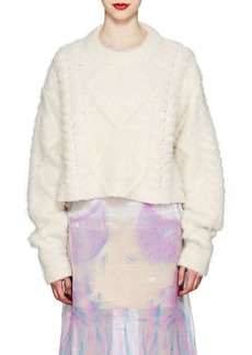Maison Margiela Women's Brushed Cable-Knit Alpaca-Blend Sweater