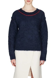 Maison Margiela Women's Contrast-Trimmed Mohair-Blend Sweater