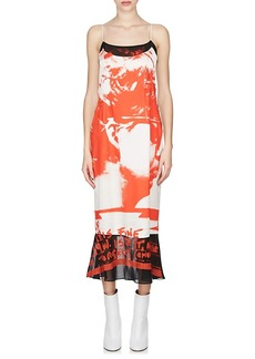 Maison Margiela Women's Crepe-Detailed Silk Cami Midi-Dress