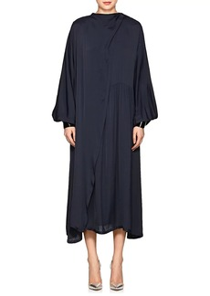 Maison Margiela Women's Draped Crepe Wrap Dress