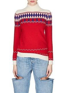 Maison Margiela Women's Fair Isle Wool Turtleneck Sweater