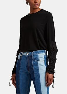 Maison Margiela Women's Fluid Jersey & Chiffon T-Shirt