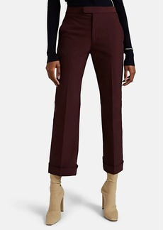 Maison Margiela Women's High-Rise Cuffed Trousers