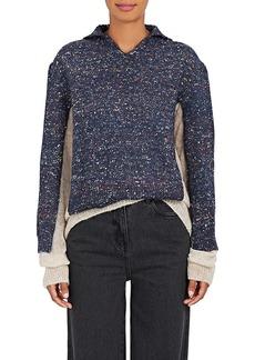 Maison Margiela Women's Layered Mixed-Knit Wool-Blend Sweater