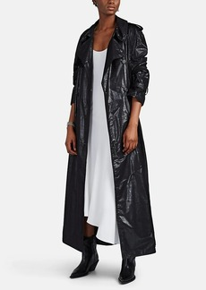 Maison Margiela Women's Layered Wool-Blend Oversized Trench Coat