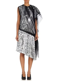 Maison Margiela Women's Mesh & Paillette-Embellished Tulle Shift Dress