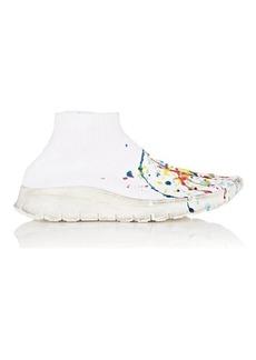 Maison Margiela Women's Paint-Splatter Knit Sneakers