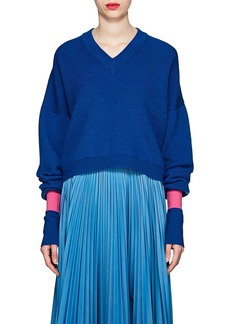 Maison Margiela Women's Rib-Knit Wool-Blend Relaxed Sweater