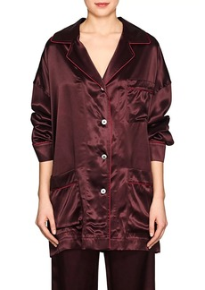 Maison Margiela Women's Satin Pajama Blouse