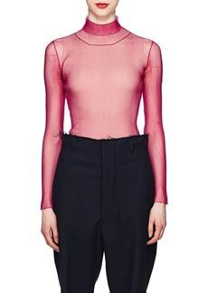 Maison Margiela Women's Sheer Rib-Knit Mesh Top