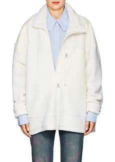 MM6 Maison Margiela Women's Sherpa & Canvas Jacket