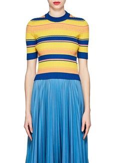 Maison Margiela Women's Striped Rib-knit Wool-Blend Sweater