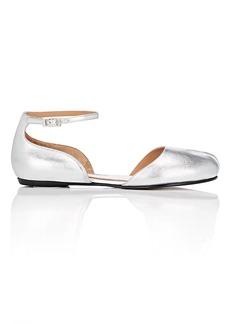 Maison Margiela Women's Tabi Leather Ankle-Strap Flats