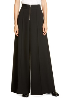 Maison Margiela Zip Front Wide Leg Pants