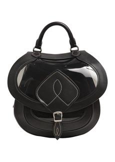 Maison Margiela Medium Sheer Pvc & Leather Saddle Bag