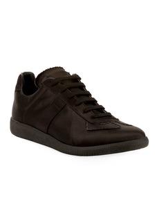 Maison Margiela Men's Replica Low-Top Satin Sneakers