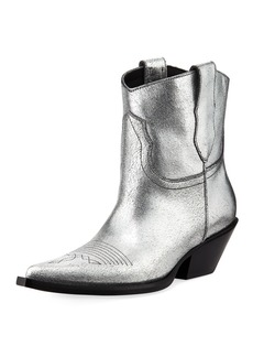 Maison Margiela Metallic Leather Cowboy Booties