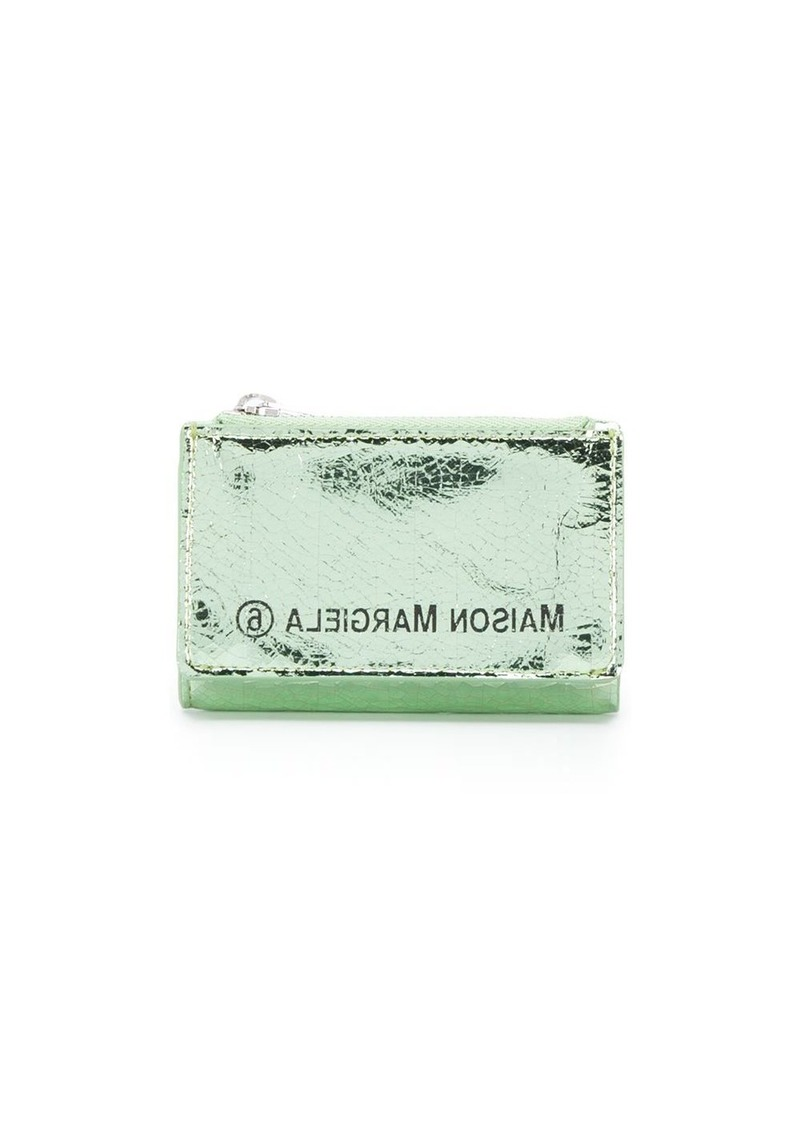 Maison Margiela metallic sheen zipped wallet
