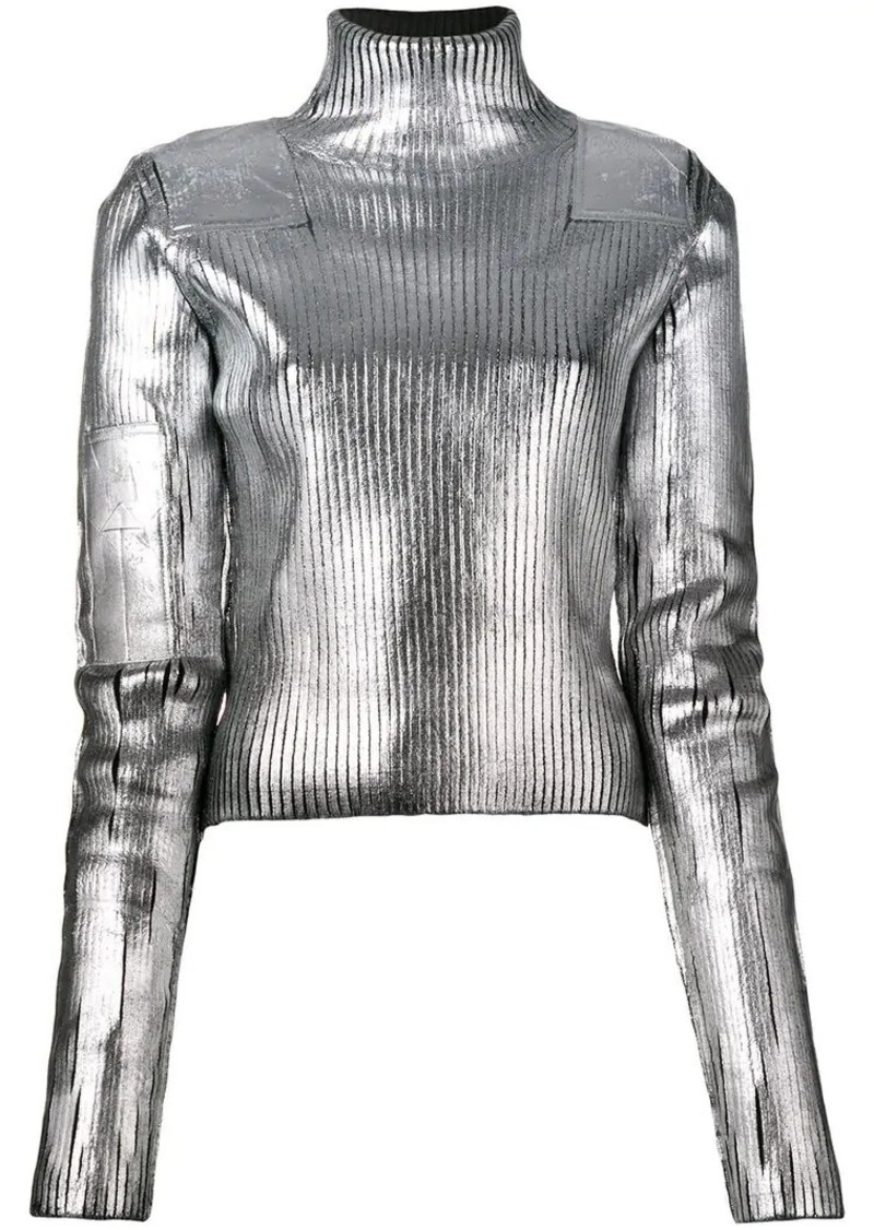 Maison Margiela metallic turtleneck sweater