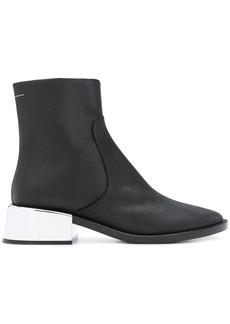 Maison Margiela mettalic heel ankle boots