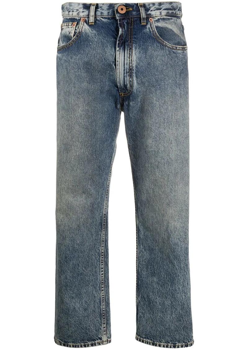 Maison Margiela mid-rise cropped leg jeans
