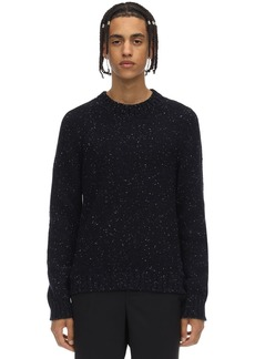 Maison Margiela Mélange Wool Blend Knit Sweater