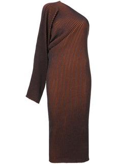 Mm6 Maison Margiela asymmetric off-shoulder knitted dress - Blue