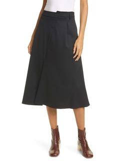 MM6 Maison Margiela Asymmetrical Waist Skirt