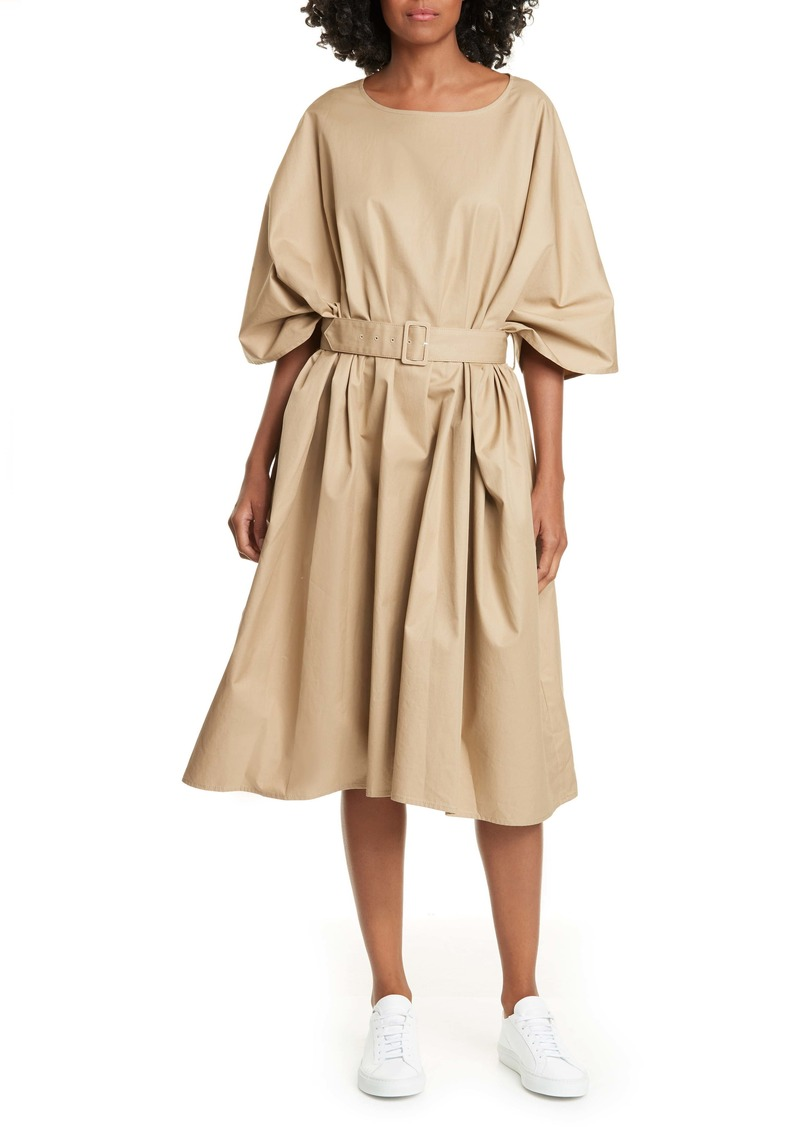 MM6 Maison Margiela Belted Cotton Twill Dress