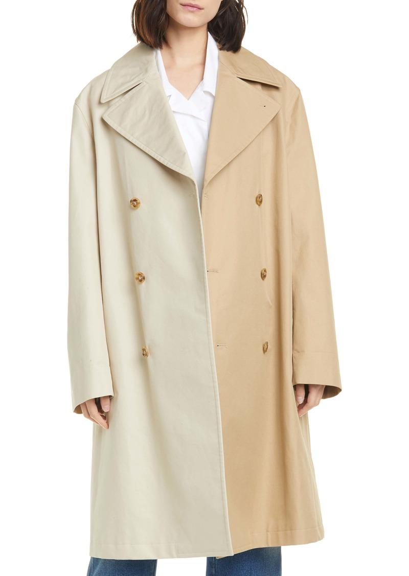 MM6 Maison Margiela Bicolor Trench Coat
