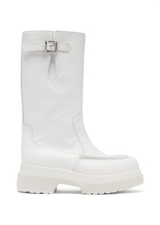 MM6 Maison Margiela Buckled leather boots
