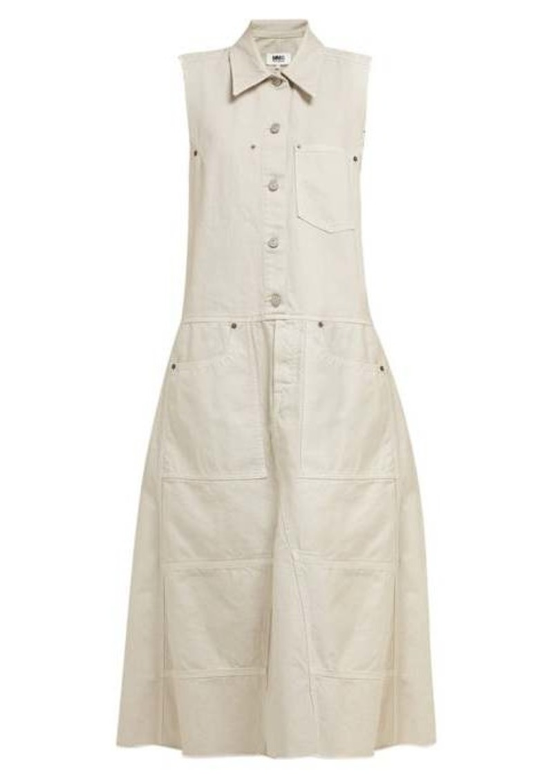 MM6 Maison Margiela Button-down denim midi dress