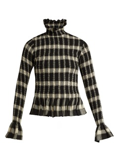 MM6 Maison Margiela Checked peplum top