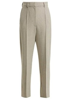 MM6 Maison Margiela Checked wool-blend trousers