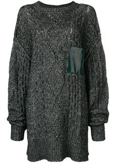 Mm6 Maison Margiela chunky knit oversized sweater with pocket detail -